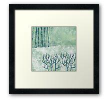 Cold Hedgerow Framed Print