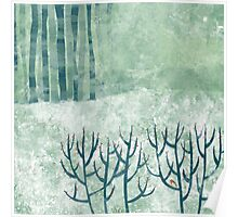 Cold Hedgerow Poster