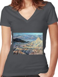 Death Valley California Women's Fitted V-Neck T-Shirt