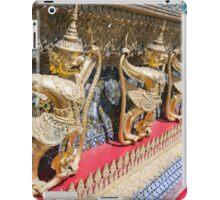 Detail on Wat Phra Kaew, Temple of the Emerald Buddha, Wat Phra Si Rattana Satsadaram, Grand Palace, Bangkok iPad Case/Skin