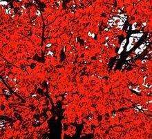 Trees:  Fantasy Autumn Impressions Red Sticker