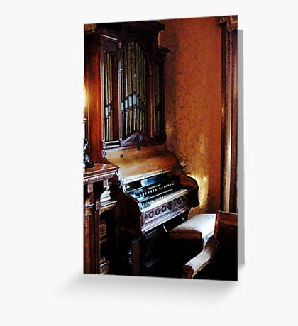 Pipe Organ in Living Room Greeting Card