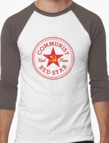 Commie Shoe Logo Men's Baseball ¾ T-Shirt