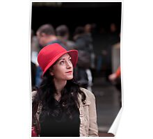Red Hat Woman: Times Square New York City Poster