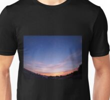 Skies with clouds over the city after sunset Unisex T-Shirt
