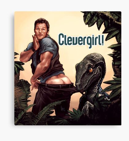 Clever Girl! Canvas Print