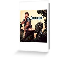 Clever Girl! Greeting Card