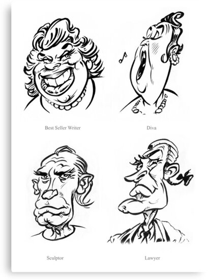 Caricature Sketches 5 by Chris Baker