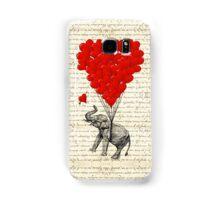 Elephant and love heart Samsung Galaxy Case/Skin