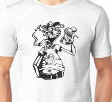 Drunk Man With Beer Unisex T-Shirt