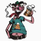Drunk Man With Beer by Tom Prokop