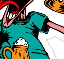 Drunk Man With Beer Sticker