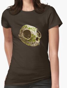cat skull decorated with wasabi flowers T-Shirt