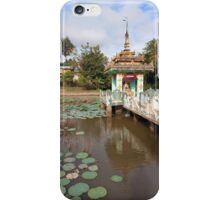 Local temple, Hsipaw, Shan State, Myanmar iPhone Case/Skin