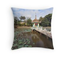 Local temple, Hsipaw, Shan State, Myanmar Throw Pillow
