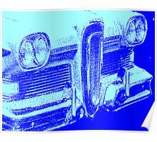 blue edsel grille Poster