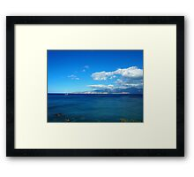 Greece, Crete - a view of the gulf of Mirabello. Framed Print