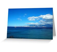 Greece, Crete - a view of the gulf of Mirabello. Greeting Card