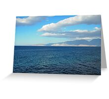 Greece, Crete - a view of the buy of Mirabello. Greeting Card