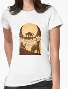 Full Moon in the Forbidden Forest Womens Fitted T-Shirt