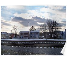 Winter In Port Jervis Poster