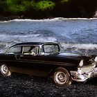 &#x27;56 Chevy at the Beach by TWindDancer