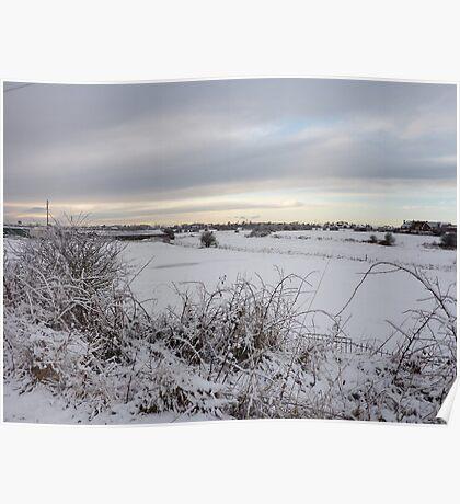 Snow in Poulton-Le-Fylde   Poster