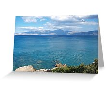 View of the Gulf of Mirabello Greeting Card