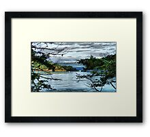 Bridge in the Trees Framed Print