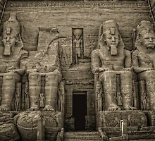 Great Temple Abu Simbel by Nigel Fletcher-Jones