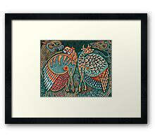 Zoomorphic Winged Beasts Framed Print