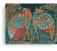 Zoomorphic Winged Beasts Canvas Print