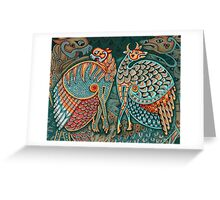 Zoomorphic Winged Beasts Greeting Card