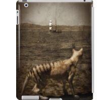 Tasmanian tiger and sailing ship iPad Case/Skin