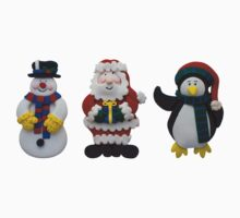 Christmas Snowman Santa and Penguin Kids Clothes