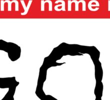 Hello my name is God Sticker
