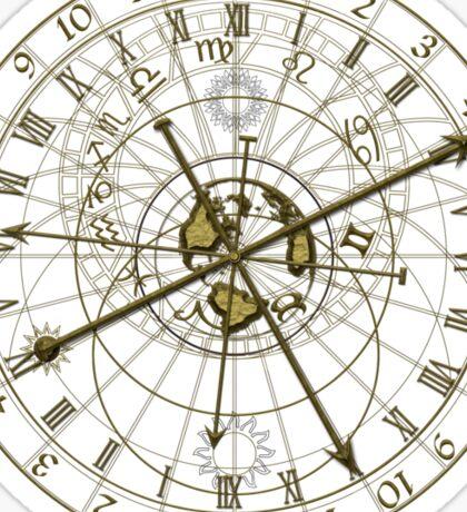 metal astronomical clock Sticker