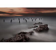Old Pier Stumps 1 Photographic Print
