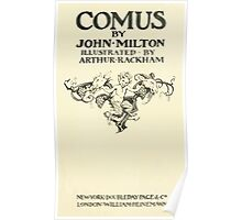 Comus Illustrated by Arthur Rackham 1921 0013 Title Plate Poster