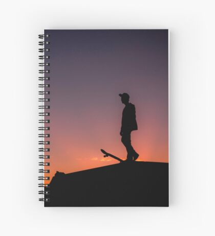 Skateboard Sunset - Thornlands Qld Australia Spiral Notebook