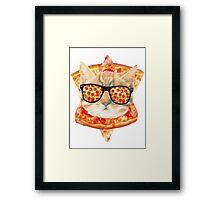 Kitty Pizza Framed Print