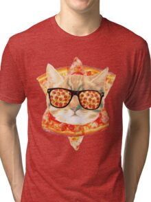 Kitty Pizza Tri-blend T-Shirt