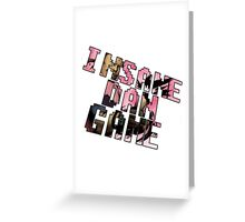 Insane Dan Game Greeting Card