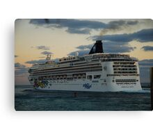 Cruise ship in Miami Canvas Print
