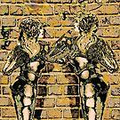 Graffiti Hearts [Digital Figure Illustration] Colour-Mash Version 1 by Grant Wilson