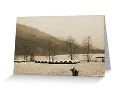 Snow Storm in Poor Valley (sepia) Greeting Card