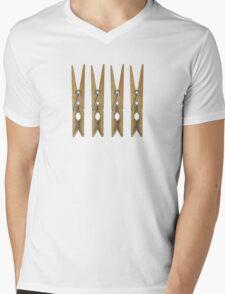 Clothes Pins Mens V-Neck T-Shirt