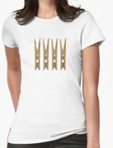 Clothes Pins Womens Fitted T-Shirt