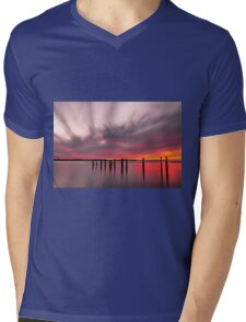 Clouds on Fire - Cleveland Qld Australia Mens V-Neck T-Shirt