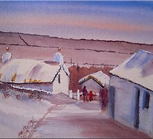 Creagneish in the Snow, Isle of Man by FrancesArt